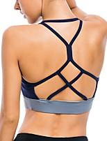 cheap -Women's Sports Bras Fast Dry Breathability Shockproof for Running/Jogging Yoga Nylon Spandex Grey Royal Blue S M L XL