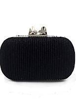 cheap -Women Bags Polyester Evening Bag Buttons for Wedding Event/Party All Season Black