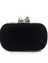 preiswerte -Damen Taschen Polyester Abendtasche Knöpfe für Hochzeit Veranstaltung / Fest Alle Jahreszeiten Schwarz