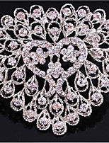 cheap -Women's Brooches Rhinestone Fashion Alloy Heart Jewelry For Gift Daily