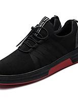 Недорогие -Для мужчин обувь Искусственное волокно Зима Светодиодные подошвы Кеды для Атлетический Черно-белый Черный/Красный