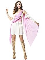 cheap -Goddess Athena Ancient Greek Ancient Rome Costume Women's Skirt White+Yellow Vintage Cosplay Cloth Sleeveless Knee Length