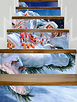 preiswerte -Archtektur Weihnachten Wand-Sticker Geh?use Flugzeug-Wand Sticker 3D Wand Sticker Dekorative Wand Sticker Hochzeits Sticker,Papier Vinyl