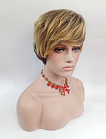 cheap -Women Synthetic Wig Short Straight Medium Brown/Strawberry Blonde Side Part With Bangs Natural Wigs Costume Wig