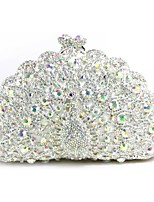 cheap -Women Bags Metal Evening Bag Crystal Detailing for Event/Party All Season White