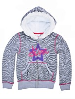 cheap -Girls' Causal Daily Animal Print Jacket & CoatCotton Long Sleeves Casual Active Gray