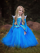 cheap -Princess Fairytale One Piece Dress Kid Christmas Birthday Masquerade Festival / Holiday Halloween Costumes Pink Blue Color Block