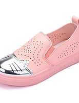 cheap -Girls' Shoes Paillette PU Spring Fall Comfort Loafers & Slip-Ons for Casual Light Blue Pink White