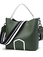 cheap -Women Bags PU Polyester Tote Appliques for Casual All Season Brown Black Green