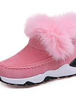 cheap -Girls' Shoes Nubuck leather Winter Fall Comfort Snow Boots Boots Walking Shoes Animal Print for Casual Pink Light Grey Dark Grey Black