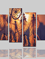 cheap -Canvas Print Classic Rustic Modern,Four Panels Canvas Horizontal Print Wall Decor Home Decoration