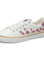 economico -Da donna Scarpe PU (Poliuretano) Autunno Comoda Sneakers Footing Ballerina Punta chiusa per Casual Bianco Nero