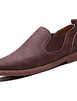 cheap -Men's Shoes Synthetic Microfiber PU Spring Fall Comfort Loafers & Slip-Ons for Casual Dark Brown Light Brown Dark Blue