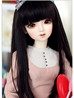cheap -Synthetic Doll Accessories Wig Long Straight Natural Black Bang color Hair for 1/4 Bjd SD DZ Doll Wig Costume Wig Not for Human Adult