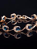 abordables -Mujer Brazalete Diamante sintético Brillante Joyas Boda Fiesta