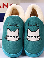cheap -Women's Shoes Polyamide fabric Cotton Winter Comfort Slippers & Flip-Flops Flat for Casual Camel Blue Green Purple Gray