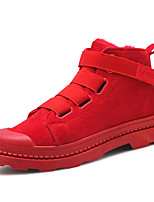 cheap -Men's Shoes Nubuck leather Suede Winter Comfort Sneakers Stitching Lace for Casual Outdoor Red Black