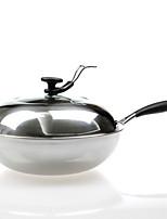 economico -Acciaio Inox Plastica Piatto Pan Pot multiuso,32*9.5