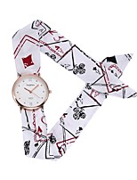 cheap -Women's Casual Watch Wrist watch Unique Creative Watch Chinese Quartz Casual Watch Fabric Band Flower Casual Bohemian Black White Blue Red