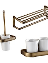 cheap -Toilet Brush Holder Towel Warmer Toothbrush Cup Neoclassical Brass Antique Brass Wall Mounting