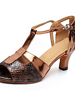 "cheap -Women's Latin Leatherette Sneaker Training Trim Low Heel Bronze 1"" - 1 3/4"" Customizable"