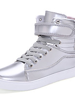 cheap -Men's Shoes Patent Leather Winter Fall Comfort Sneakers Booties/Ankle Boots for Casual Party & Evening Red Silver Black White Gold