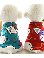 Dog Sweater Dog Clothes Casual/Daily Cartoon Blue Red Brown Costume For Pets