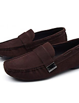 cheap -Men's Shoes Cowhide Spring Fall Comfort Loafers & Slip-Ons for Casual Black Coffee