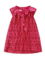cheap -Girl's Casual/Daily Solid Dress,Polyester Winter Fall Sleeveless Simple Fuchsia