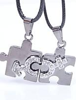 Недорогие -Муж. Геометрической формы Подарок Elegant Ожерелья с подвесками , Кожа Ожерелья с подвесками , Свадьба Обручение