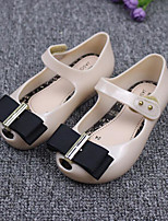 cheap -Girls' Shoes PU Fall Flower Girl Shoes Flats Bowknot for Casual Black Beige