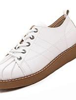 economico -Da donna Scarpe PU (Poliuretano) Inverno Comoda Sneakers Piatto Punta tonda per Casual Bianco Nero Cachi