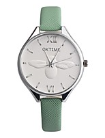 abordables -Mujer Niños Reloj de Moda Reloj creativo único Chino Cuarzo Cronógrafo Reloj Casual Piel Banda Elegant Navidad Negro Blanco Azul Verde