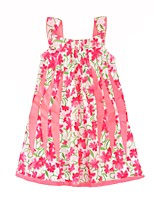 cheap -Girl's Daily Going out Floral Dress,Cotton Summer Sleeveless Casual Active Blushing Pink
