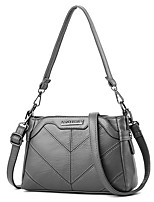 Women Bags PU Shoulder Bag Zipper for Casual Office & Career All Season Wine Gray Blushing Pink Black Green