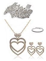 cheap -Women's Hair Combs Bridal Jewelry Sets Rhinestone Imitation Diamond Alloy Heart Fashion European Wedding Party Body Jewelry 1 Necklace