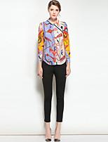 economico -Camicia Da donna Per uscire Casual Vintage Attivo Primavera Estate,Con stampe Colletto Seta Maniche lunghe Medio spessore