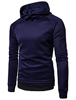 cheap -Men's Daily Sweatshirt Print Hooded Micro-elastic Cotton Long Sleeve Winter Spring/Fall