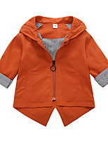 cheap -Girls' Solid Suit & Blazer,Cotton Long Sleeves Cute Cartoon Green Orange Blushing Pink