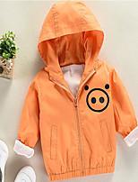 Недорогие -Девочки Куртка / пальто Шерсть Однотонный Длинный рукав Очаровательный Синий Зеленый Оранжевый Желтый