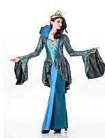 abordables -Lolita Clásica y Tradicional Antigua Grecia Mujer Una Sola Pieza Vestidos Cosplay Verde Oscuro Mariposa Manga Larga Hasta el Tobillo