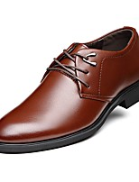 cheap -Men's Shoes Leather Spring Fall Comfort Oxfords for Office & Career Party & Evening Brown Black