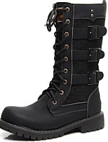 cheap -Unisex Shoes Synthetic Winter Fall Combat Boots Motorcycle Boots Fashion Boots Boots Mid-Calf Boots Knee High Boots for Casual Party &