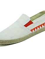 abordables -Hombre Zapatos Tela Primavera Otoño Confort Zapatos de taco bajo y Slip-On para Casual Negro Beige Verde Azul