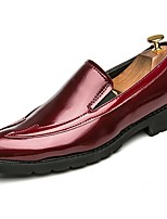cheap -Men's Shoes PU Spring Fall Comfort Loafers & Slip-Ons for Casual Red Black