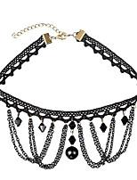 cheap -Women's Simple Fashion Choker Necklace Cubic Zirconia Zircon Lace Alloy Choker Necklace , Simple Fashion Daily