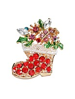 Недорогие -Жен. Броши Цирконий Мультяшная тематика европейский Мода Циркон Сплав Обувь на высоких каблуках Бижутерия Назначение Рождество Для клуба