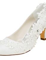 economico -Da donna Scarpe Raso elasticizzato Primavera Autunno Decolleté scarpe da sposa Quadrato Punta tonda Cristalli Perle per Serata e festa