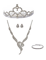 cheap -Women's Chain Necklace Bridal Jewelry Sets Rhinestone Imitation Diamond Alloy Fox Fashion European Wedding Party Body Jewelry 1 Necklace