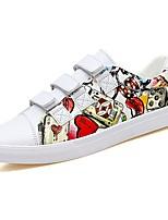 Недорогие -Для мужчин обувь Полиуретан Весна Осень Удобная обувь Кеды для Повседневные Белый Красный Черно-белый